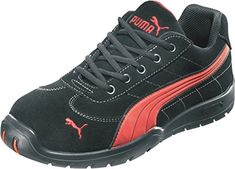 Puma Safety Shoes Silverstone Low S1P HRO SRC, Puma 642630-210-41 Herren Sicherheitsschuhe, Schwarz (schwarz/rot 210), EU 41 - http://on-line-kaufen.de/puma/41-eu-puma-safety-sicherheitsschuhe-silverstone