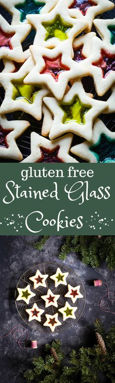 Absolutely gorgeous Gluten Free Christmas Cookies with Stained Glass. You can make these with your kids, they are SO easy! | dairy free | gluten free | Christmas |