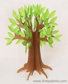 Trendy spring tree crafts for kids fun 3d Tree, Tree Art, Tree Crafts, Paper Crafts, How To Make Trees, Cardboard Tree, Trees For Kids, Fun Crafts For Kids, Craft Kids