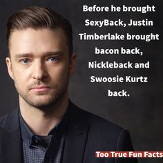 Justin Timberlake is a great musician.  Too True Fun Fact is your Pinterest home for fun fact parody. Comedy in the finest tradition.
