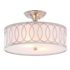 World Imports Venn 2-Light Brushed Nickel Semi-Flush Mount Light-WI907637 - The Home Depot