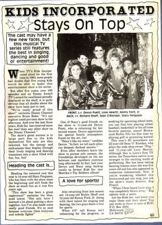 Kids Incorporated article..these later episodes had a young Jennifer Love Hewitt!(RB)
