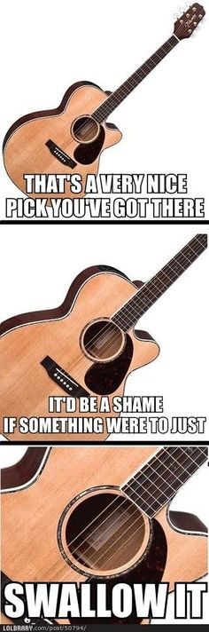 Acoustic guitar players will understand.oh gosh it makes me mad when this happens!:/ lol