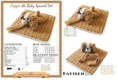 Baby Spaniel Puppy Dog Hat, Diaper...