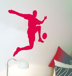 Footballer wall sticker