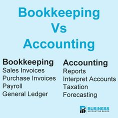 What is the difference between bookkeeping and accounting? Some of the tasks overlap, but there are some distinct differences in duties for an accountant. Accounting Notes, Accounting Classes, Accounting Basics, Accounting Principles, Accounting Student, Bookkeeping And Accounting, Accounting And Finance, Sage Accounting, Accounting Cycle