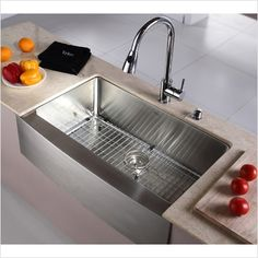 "33"" apron stainless steel sink $440"