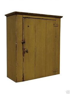 Wall+cupboard+primitive+cabinet+painted+by+JosephSpinaleFurn,+$350.00