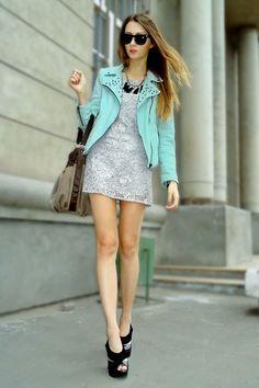 Aquamarine Zara Studded blazer <3