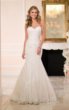 6034 Fitted Lace Wedding Dress by Stella York