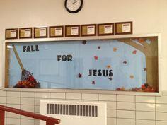 Fall for Jesus. Church bulletin board
