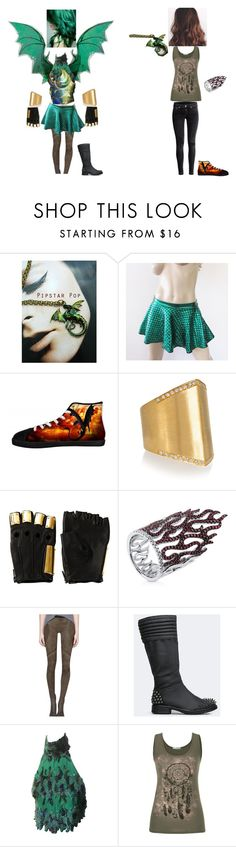 """Saphira Green (Left to Right: Hybrid Superhero And Casual Human)"" by phoenix1053 ❤ liked on Polyvore featuring Ileana Makri, Majesty Black, BERRICLE, Helmut Lang, Dollhouse, maurices and H&M"