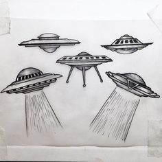 Teenie weenies #flyingsaucer#ufo#spacetattoo#smalltattoo#blackwork#entching#engraving#linework Aliens And Ufos, Ancient Aliens, Tattoo Sketches, Tattoo Drawings, Cherub Tattoo, Alien Drawings, Bottle Tattoo, Alien Tattoo, Desenho Tattoo