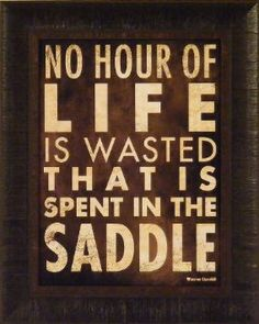 No Hour by Stephanie Marrott 17x21 Cowboy Western Saddle Horses Winston Churchill Quote Framed Art Print Wall Décor Picture