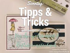 Stampin Up - Reflektionstechnik - Spiegeltechnik - Stempeltechniken - Anleitungen - Tutorial - Sonntag: Tipps & Tricks - Tipps und Tricks ♥ StempelnmitLiebe
