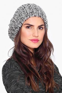 Knit Beanie in Grey | Necessary Clothing $18.99