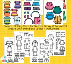 Free printable winter paper doll dress up busy bag perfect for restaurant kits and quiet time activities for toddlers and preschoolers. Paper Doll Template, Paper Dolls Printable, Seasons Activities, Quiet Time Activities, Dress Up Dolls, Doll Dresses, Clothes Worksheet, How To Make Paper, Free Paper