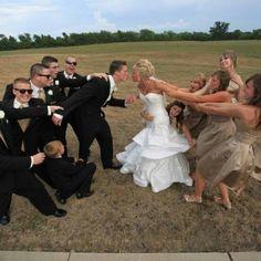 Black & tan. Wedding Style