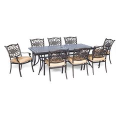 Found it at Wayfair - Traditions 9 Piece Dining Set with Cushion