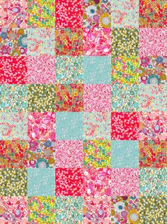 Fabulously Floral Liberty Fabric Patchwork by Alicecarolinesupply, $46.00