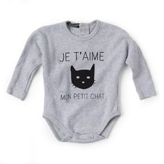 Valentina Grower - Cat on Grey - Clothing - girls - Baby Belle Pretty Baby, Little Girls, Girl Outfits, Mens Tops, Cat, Grey, Clothes, Fashion, Midget Cat