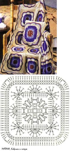 Transcendent Crochet a Solid Granny Square Ideas. Inconceivable Crochet a Solid Granny Square Ideas. Crochet Motif Patterns, Crochet Blocks, Crochet Diagram, Crochet Chart, Crochet Squares, Crochet Designs, Crochet Stitches, Crochet Granny, Granny Squares