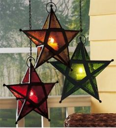 Hanging Star Candleholders