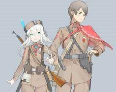 Anime Military, Military Girl, Manga Girl, Manga Anime, Anime Art, Comic Pictures, Manga Pictures, Character Concept, Character Design