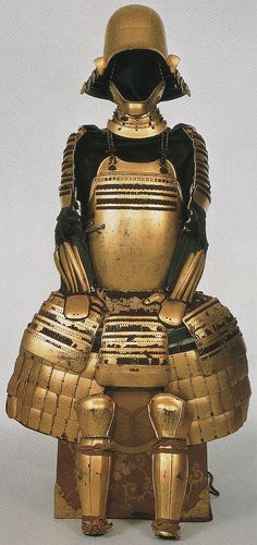 Tokugawa Ieyasu's golden armor, used during the winter siege of Osaka castle.