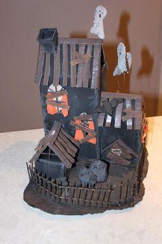 Halloween Town House by artist Sarah Ashford