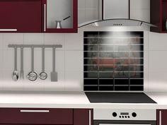 fond de hotte couleur rouge pourpre design credence deco. Black Bedroom Furniture Sets. Home Design Ideas