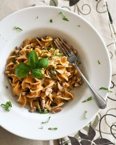Creamy Pumpkin and Chestnuts Pasta  | by Sonia! The Healthy Foodie