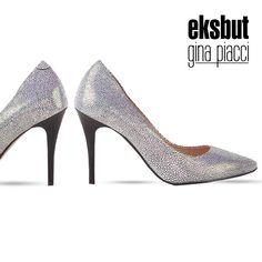 Eleganckie czarne szpilki w mieniące się białe kropki.  Elegant black high heels with white dots.  #highheels #szpilki #buty #obuwie #eksbut #style #fashion #ginapiacci #moda #elegant #kobieta #women #zakupy #shopping
