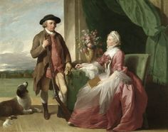 1773 Mr. and Mrs. Robert Crafton by Benjamin West (American painter, 1738-1820)