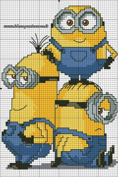 minions_cross_stitch_pattern_by_syra1974-d9drctl.jpg 1,260×1,890 pixels