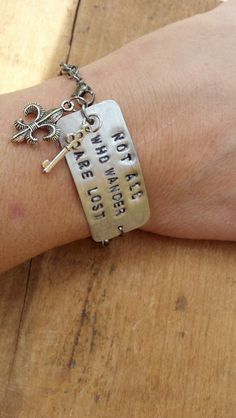 Hand Stamped Metal  Quote / Saying Only For by STAMPEDSTATEMENTS, $8.00