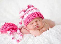 Pink & white stocking hat