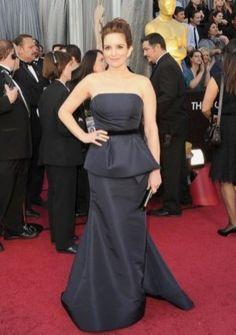 A-line Strapless Floor-length in Taffeta 84th Oscar Dress 2012