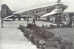 KLM Douglas DC2 PH-AKK 'Koetilan' on Arrival at Kemajoran, Batavia (Jakarta) May 31, 1935