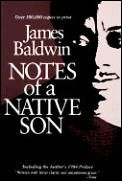 """Notes of a Native Son by James Baldwin. """"Perhaps because Baldwin was the ultimate outsider-black, gay, and an expat-his portrait of America somehow seems truer. In the title essay, he builds to a scene in a diner in which, furious at being denied service, he realizes that he is willing to commit murder. His analysis of race and rage takes as its target, finally, his own heart."""""""