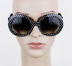 60'S OVERSIZED BLACK FRAME RETRO VINTAGE STYLE FASHION WOMEN SUNGLASSES 100% UV
