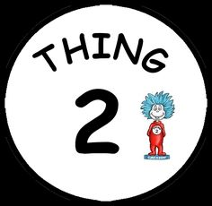 Dr Seuss Thing One Thing Two From Robert Kaufman  PATTERNS