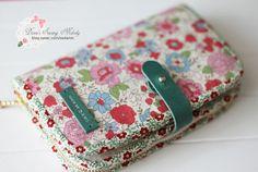 Flower linen purse by sodamilee on Etsy, $30.00