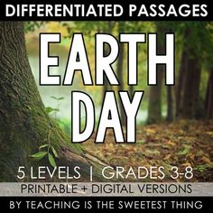 Earth Day Differentiated Reading PassagesPrintable + Digital Paperless Versions IncludedWith this resource, students will learn about recycling through reading an engaging passage on differentiated reading levels. There is 1 original reading passage included on 5 reading levels covering grades 3-8, ... Guided Reading Groups, Reading Lessons, Reading Levels, Reading Skills, 7th Grade Reading, Critical Thinking Activities, Next Generation Science Standards, Student Guide, Differentiated Instruction