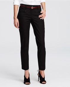 Perfect twist on classic black slacks for a professional fashionista.