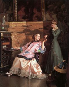 """""""The New Necklace"""", 1910, by William McGregor Paxton (American, 1869-1941)"""