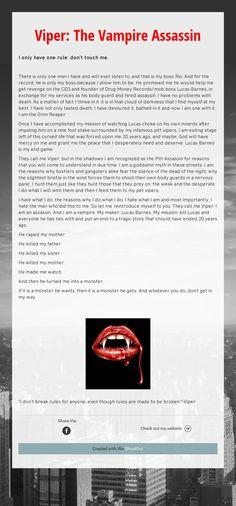 Viper: The Vampire Assassin