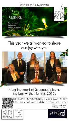 FROM THE HEART OF GREENPOL'S TEAM, THE BEST WISHES FOR THIS 2013!