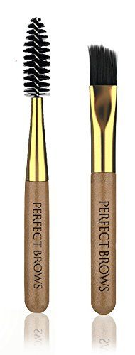 Perfect Brows Shaping & Defining Eyebrow Styling Brushes (Shaping & Defining Mini-Brush Kit/2 Pc Set). ULTIMATE STYLING BRUSH SET. COMES WITH ELEGANT POUCH. Stiff bristles apply the perfect amount of PERFECT BROWS styling & growing primer to the hair and skin for a natural finish. 100% Professional Eco-friendly product. Use with our Brow Re-Growth & Care PERFECT BROWS Balm. Easy to use. Use to create dramatic eyebrows looks. Creates alluring brows. A must have for your makeup arsenal.