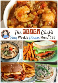 This week's easy dinner menu features Thai Soup, BLTA Sandwiches, Mexican Pizzas, two slow cooker recipes, and more!